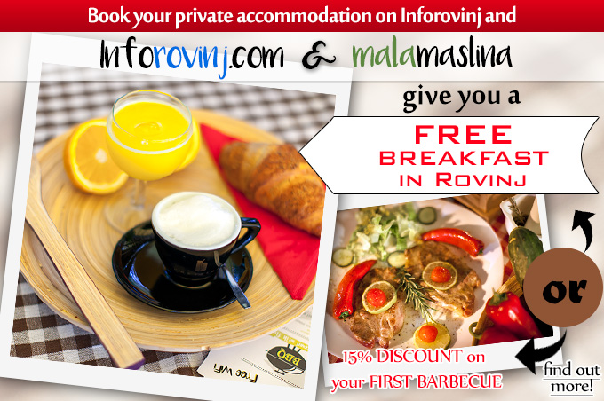 Your FIRST breakfast in Rovinj for FREE!