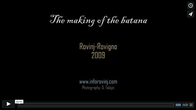 The repair of a Rovinj batana