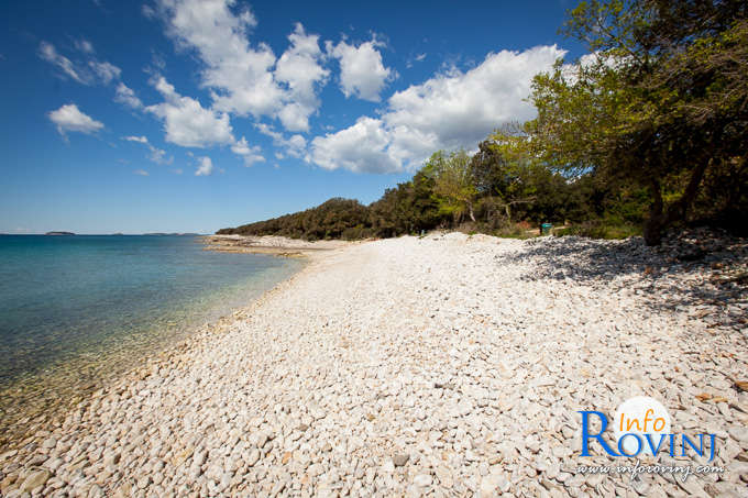 Beaches in Rovinj: Bay Cisterna / Bay Bacvice