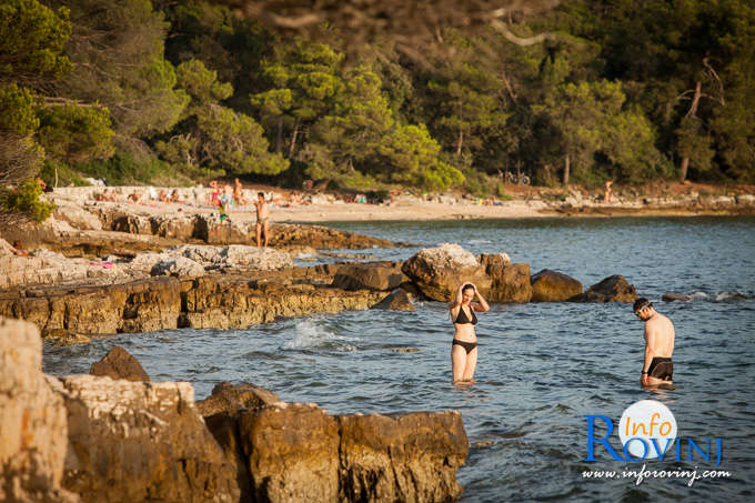 Beaches in Rovinj: Golden Cape