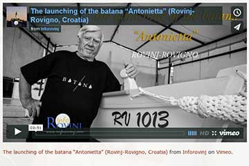 Launching of the Rovinj batana