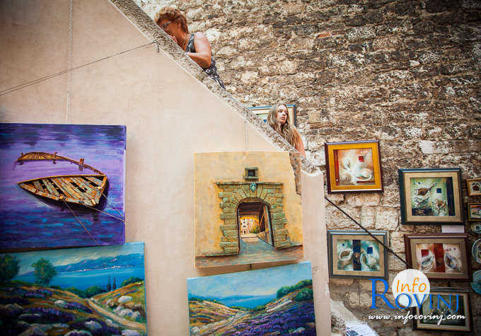 Open air exhibition Grisia Rovinj